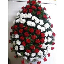 Coroana  crizanteme si garoafe 100 fire