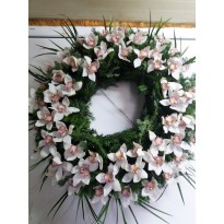 Coroana funerara rotunda orhidee