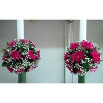 Lumanari de nunta din crizantema