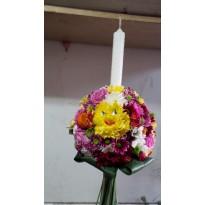 Lumanari de nunta din flori naturale