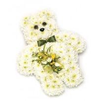 Aranjament florau ursulet crizantema