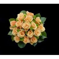 Buchet mireasa din trandafiri si santini