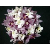 Buchet mireasa din orhidee