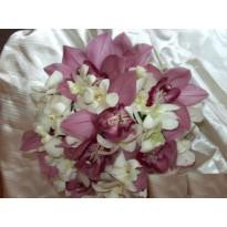 Buchet de mireasa mix de orhidee