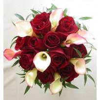 Buchet  trandafiri si cale