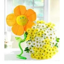 Buchet  mare din crizanteme