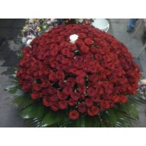 Buchet  mare din 301 fire trandafiri