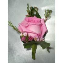 Cocarde nunta naturale trandafir roz