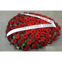 Coroana 100 fire trandafiri