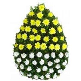 Coroana  funerara crizanteme 50 fire
