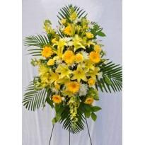 Coroana  funerara  mix flori