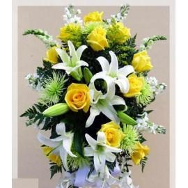 Coroana  flori mix