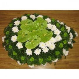 Coroana crizanteme si anthurium