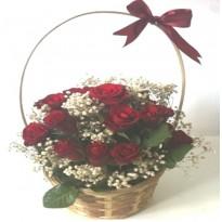 Cos cu 19 trandafiri