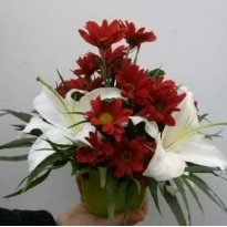 Cos cu  flori naturale