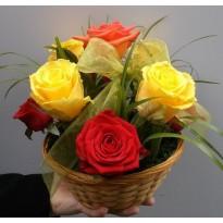 Cos 7  trandafiri