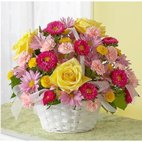 Cos cu mix flori naturale