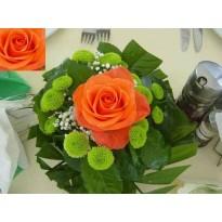 Gaspou 1 trandafir santini si gypsophila
