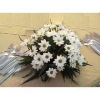 Aranjament de masa rotund din crizantema