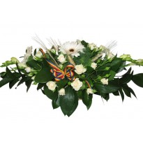 Aranjamente florale cu spice de grau si tricolor