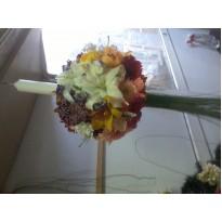 Lumanare botez flori asortate