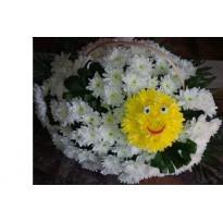 Cos mare cu crizanteme