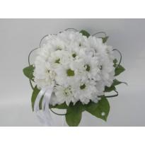 Buchet mireasa crizanteme